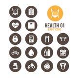 Hälso- & konditionsymbol också vektor för coreldrawillustration royaltyfri illustrationer