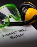 Hälso- och säkerhetsregister royaltyfri bild