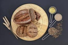 Hälsokost för rågbröd Arkivbild