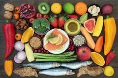 Hälsokost som är hög i näringsämnar arkivfoton