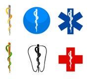 hälsoläkarundersökningsymboler royaltyfri illustrationer