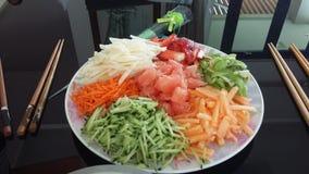 Hälsosam Yee shang Arkivfoto