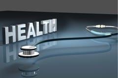 hälsostetoskop stock illustrationer