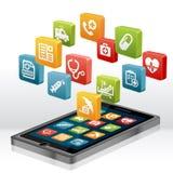 Hälsovård och läkarundersökning Apps Arkivfoton
