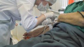 Hämodialyse, Apparat der künstlichen Niere Einsparungs-Leben stock footage