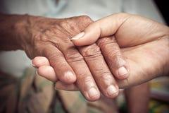 Händchenhalten Stockbilder