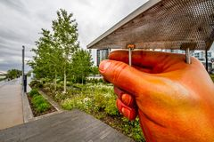 Hände überall in der Gemeinschaft Lizenzfreies Stockbild