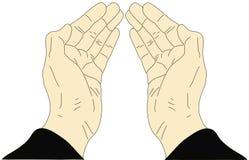 Hände auf einem weißen Hintergrund lizenzfreie abbildung