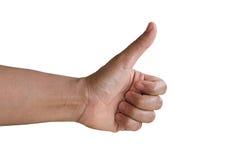 Hände auf weißen Hintergründen Stockfotografie