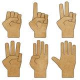 Hände bereiteten Papierfertigkeit auf Stockfotografie