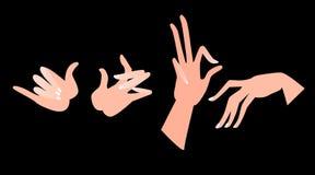 Hände in den verschiedenen Stellungen Lizenzfreies Stockbild