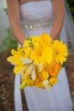 Hände der Braut und des Bräutigams Stockfotografie