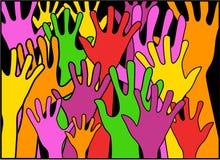 Hände in der Einheit stock abbildung