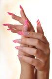 Hände in der Farbe Lizenzfreies Stockfoto