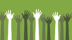 Hände in der Luft nahtlos Lizenzfreie Stockfotos