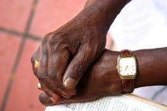 Hände des alten Mannes Lizenzfreies Stockfoto