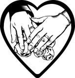 Hände des Paares Stockbild