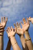 Hände des Teams Lizenzfreie Stockfotos