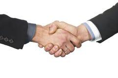 Hände des weißen Mannes und der Frau Lizenzfreies Stockbild