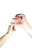 Hände, die eine Versprechung bilden Lizenzfreies Stockfoto