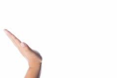 Hände, die etwas unsichtbar halten Lizenzfreies Stockbild