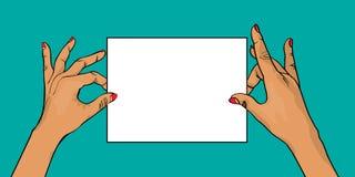 Hände, die Fahne anhalten Lizenzfreie Stockbilder
