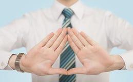 Hände, die Form schaffen Stockfotos