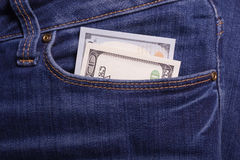 Hände, die Geld anhalten Bestechungsgeld in der Tasche der Geschäftsmänner Dollar Kanaille Lizenzfreie Stockfotografie