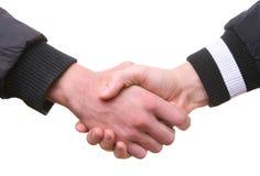 Hände, die Händedruck rütteln Lizenzfreie Stockfotografie