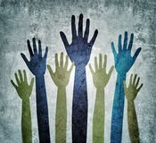Hände, die Hilfskonzept suchen lizenzfreies stockbild