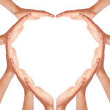 Hände, die Innerform bilden Lizenzfreies Stockbild