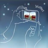 Hände, die intelligentes Mobiltelefon halten Stockbild
