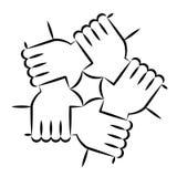 Hände, die sich halten Stockfotografie