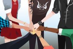 Hände, die sich zusammen berühren Lizenzfreies Stockbild