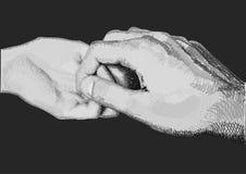 Hände, ein leichter Händedruck Lizenzfreies Stockfoto