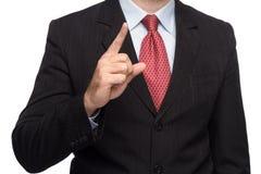Hände in einem Anzug, der sich Daumen zeigt Stockbild