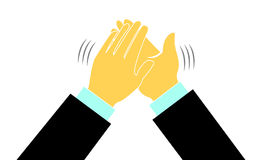 Hände in einem Applauslogo Stockfotos