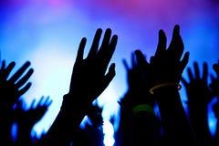 Hände in einer Luft lizenzfreie stockfotografie