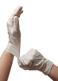 Hände eines Doktors Stockbild