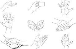 Hände eingestellt Stockfotografie