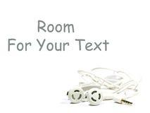 Hände geben Set auf Weiß mit Platz für Text frei Lizenzfreies Stockfoto
