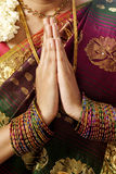 Hände in Gebetstellung Stockbild