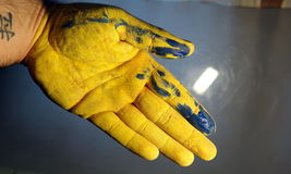 Hände gemalt Lizenzfreie Stockfotografie