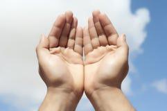 Hände höhlten Lizenzfreie Stockbilder