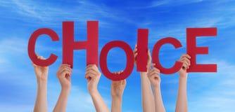 Hände halten auserlesen im Himmel Lizenzfreie Stockfotografie