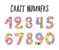 Hände herauf verrückte Zahlen Stockfoto