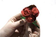 Hände, kleiner Blumenstrauß Lizenzfreie Stockfotografie