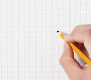 Hände mit Bleistift Lizenzfreie Stockfotos
