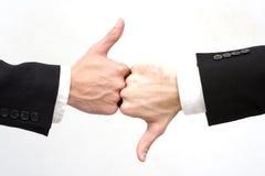 Hände mit den Daumen Lizenzfreies Stockbild