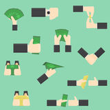 Hände mit Geldern Lizenzfreies Stockfoto
